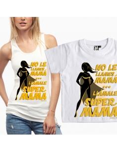 Pack Super Mamá: Camiseta + Camiseta de bebé